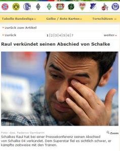 Raul dejara Alemania